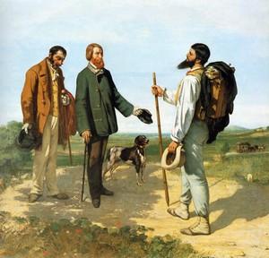 Courbet (1854): Bonjour M. Courbet – Musée Fabre, Montpellier